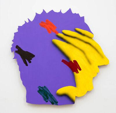 """James English Leary, '""""Multiple Interpretation Painting (Purple Head)""""', 2016"""