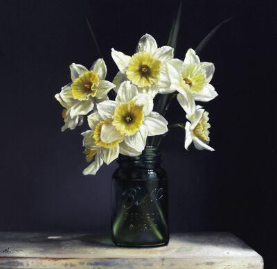 Larry Preston, 'White and Yellow Daffodils', 2019