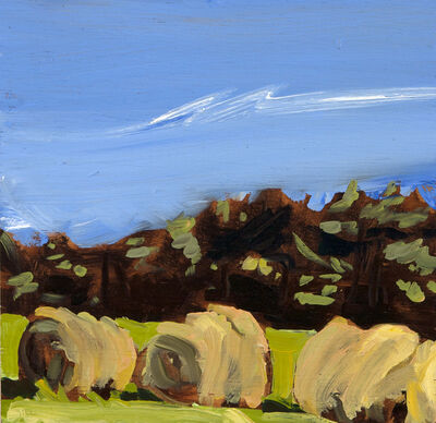 Susan Headley Van Campen, 'Three Haybales '