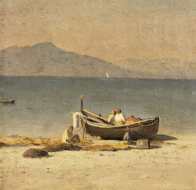 Sanford Robinson Gifford, 'Marina Grande, Capri, with Figures', 1857