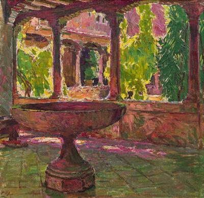 Carl Moll, 'Cloister in the monastery San Gregorio in Venice', 1922