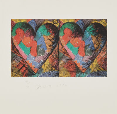 Jim Dine, 'Louisiana Hearts', 1982