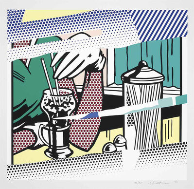 Roy Lichtenstein, 'Reflections on Soda Fountain  ', 1991