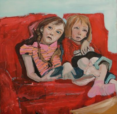 Alex Hain, 'Children on sofa', 2018