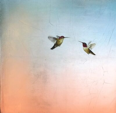 Carolyn Reynolds, 'Two Hummers in Soft Pastel', 2018