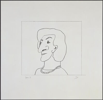 Saul Steinberg, 'Portrait of M', 1997