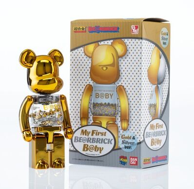 BE@RBRICK, 'My First Be@rbrick B@by 200% (Gold and Silver)', 2017