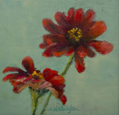 Susan Wellington, 'Zinnias', 2019
