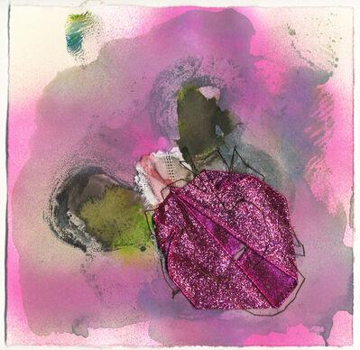 """Vivian Liddell, '""""Ugh"""" - Mixed Media, Small, Square, Feminist, Framed Work on Paper', 2017"""