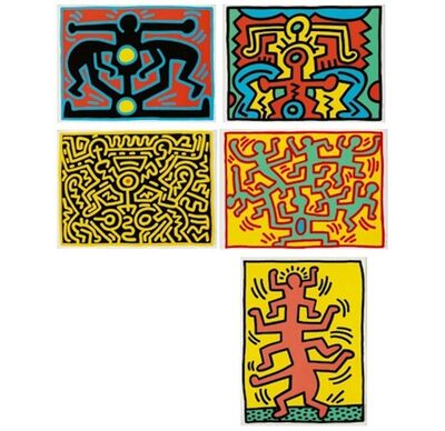 Keith Haring, 'Growing Series I-V, 1988', 1988