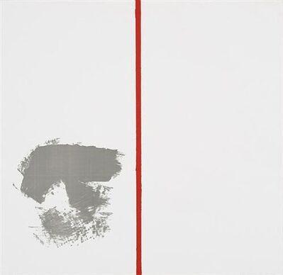 Blinky Palermo, 'Ohne Titel (mit rotem Strich)', 1969