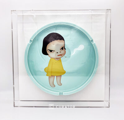 Yoshitomo Nara, 'Too Young to Die Dish (Framed)', 2002