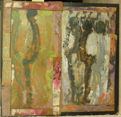 Purvis Young, 'Figures (Diptych)', 1990