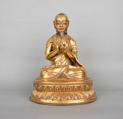 Unknown Tibetan, 'Gilt copper portrait of Jangchup Gyaltsen', Ca. 15th century