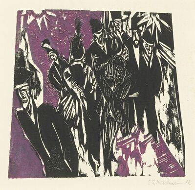 Ernst Ludwig Kirchner, 'Strassenszene (D. H235/B; Sch. H218; G. 643/2)', 1913-14