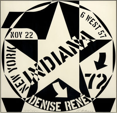 Robert Indiana, 'Galerie Denise Rene New York (a pair of works)', 1970