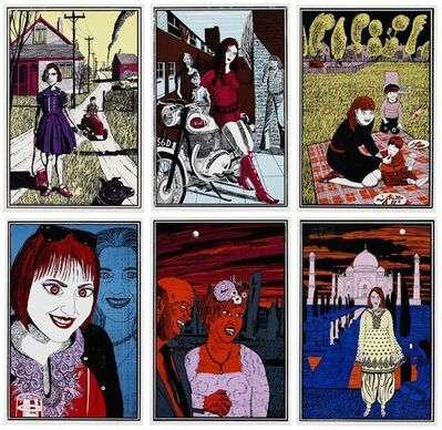 Grayson Perry, 'Six Snapshots of Julie - Colour version (set of six)', 2015