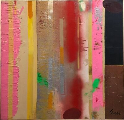 Sidney Gross, 'Large New York School Abstract Expressionist MIxed Media Oil Painting Collage', 1960-1969