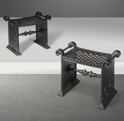 Folke Bensow, 'A pair of stools, model no. 1', circa 1925