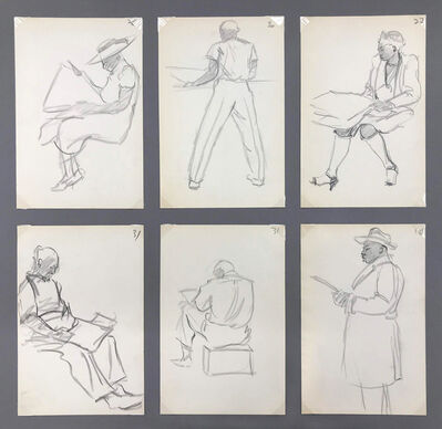 Masood Wilbert Warren, 'Daily Sketches I, (group of six works)', circa 1935