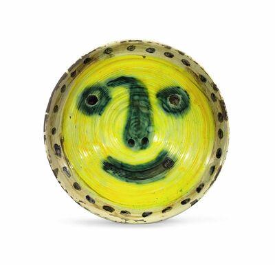 Pablo Picasso, 'Visage sur fond jaune. Au verso quatre études de visage', 1958