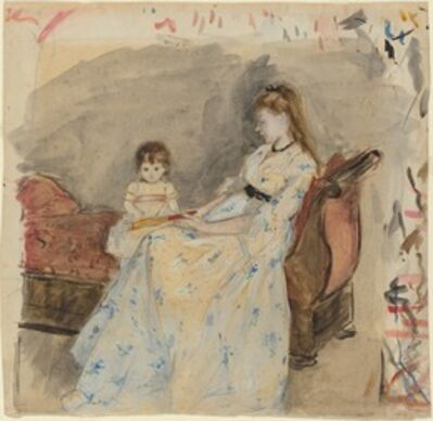 Berthe Morisot, 'The Artist's Sister, Edma, with Her Daughter, Jeanne', 1872