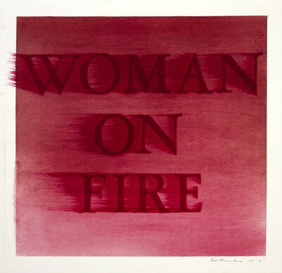 Ed Ruscha, 'Woman On Fire', 2018