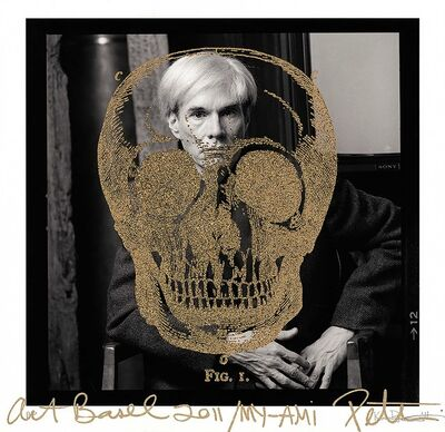 Karen Bystedt and Peter Tunney, 'Gold Britannica Skull on Warhol, 2011', 2011
