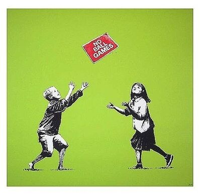Banksy, 'No Ball Games (Green)', 2009