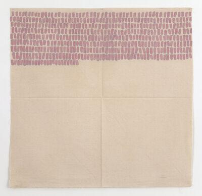 Giorgio Griffa, 'Segni orizzontali', 1968