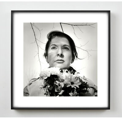 Marina Abramović, 'Portrait with Flowers', 2009