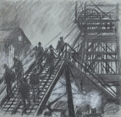 Norman Cornish, 'Gantry with steam engine ', ca. 1964