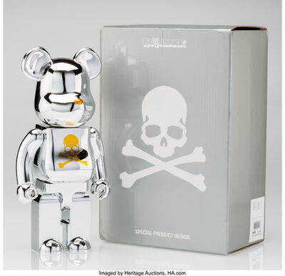 BE@RBRICK X mastermind JAPAN, 'mastermind JAPAN 400% (Silver and Gold)', 2013