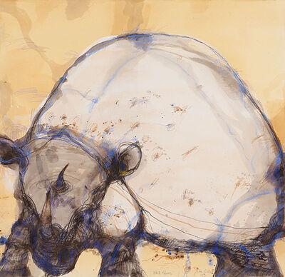 John Olsen (b.1928), 'White Rhino', 2013