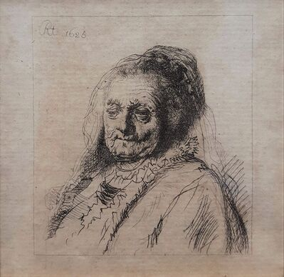 Rembrandt van Rijn, 'The Artist's Mother: Head and Bust, three-quarters right', 1628