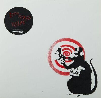 Banksy, 'Dirty Funker - Future (Radar Rat) Red edition on white', 2000-2010