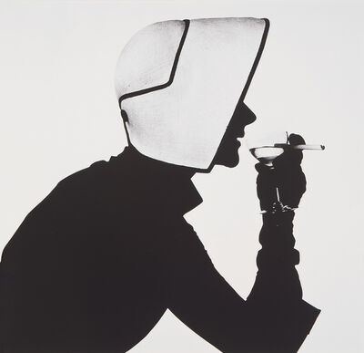 Irving Penn, 'Woman in Dior Hat with Martini (Lisa Fonssagrives-Penn), New York', 1952
