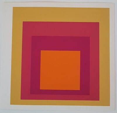 Josef Albers, 'Geometric Composition (Homage to the Square Series)', 1977