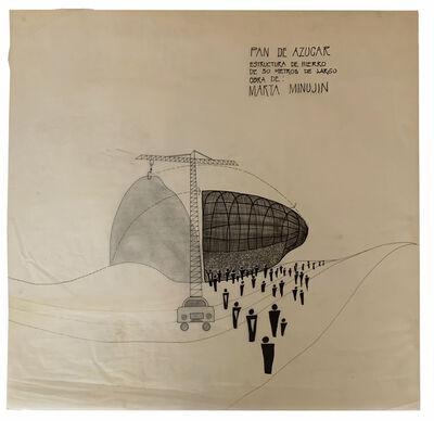 Marta Minujín, 'Pan de azúcar (boceto)', 1979-1980