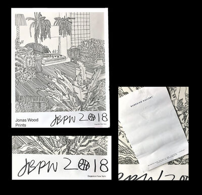 "Jonas Wood, '""jonas Wood Prints"", 2018, SIGNED, Exhibition Poster, Gagosian Gallery NY', 2018"