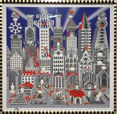 Pedro Friedeberg, 'Ciudad de un millón de huevos con 25 duros', 1973
