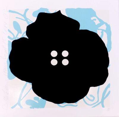 Donald Sultan, 'Button Flower Aqua', 2014