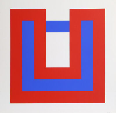 Bob Bonies, 'Composition Red and Blue I ', 1970