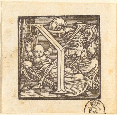 Hans Holbein the Younger, 'Letter Y'