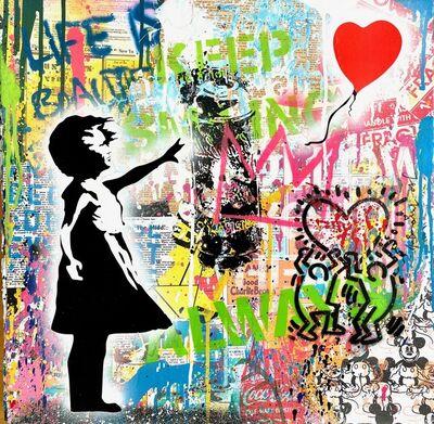 Mr. Brainwash, 'Balloon Girl Quadrat small 2021', 2021
