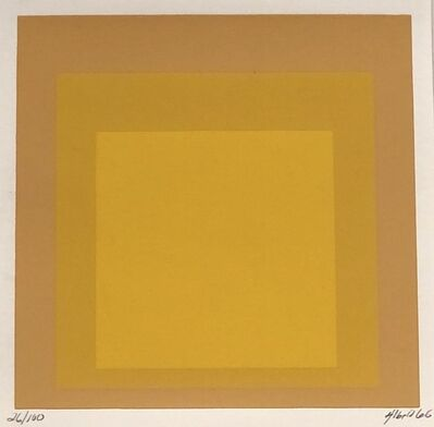 Josef Albers, 'Homage to the Square (Yellow/peach) #2178', 1966