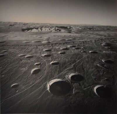Emmet Gowin, 'Subsidence Craters, Looking East from Area 8, Nevada Test Site', 1996