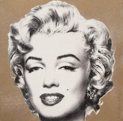 Mr. Brainwash, 'Marilyn Diamond Girl (Gold)', 2016