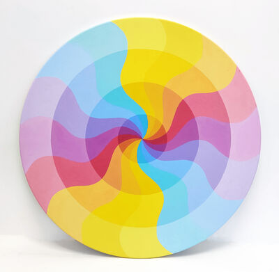 Stan Slutsky, 'CURVES (CIRCULAR PAINTING ON WOOD)', ca. 2000