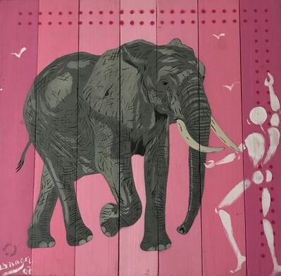 Jérôme Mesnager, 'The elephant and the human', 2007